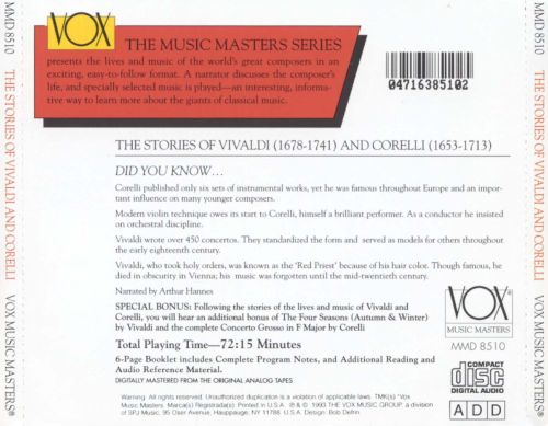 comparison musical styles vivaldi and corelli Start studying music ch 9: the baroque era  which statement does not correctly describe corelli's musical style  the pope banned performances of vivaldi's .