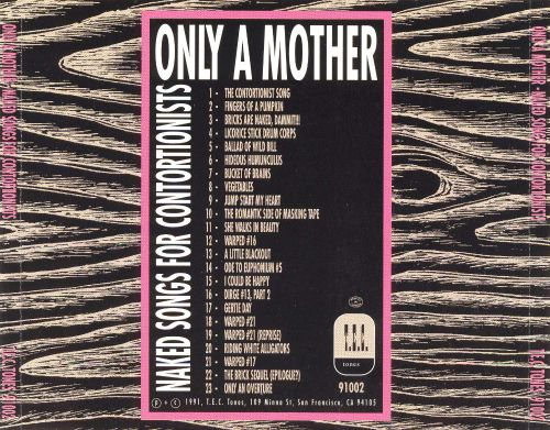 Naked Songs for Contortionists - Only a Mother   Songs, Reviews, Credits   AllMusic