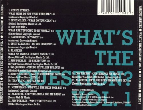 What's the Question, Vol. 1