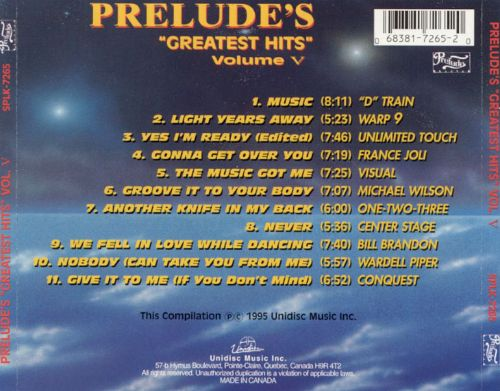 Prelude's Greatest Hits, Vol. 5