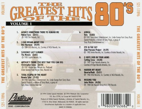 Greatest Hits of the '80s, Vol. 1