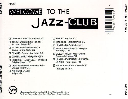 Jazz-Club: Alto Sax