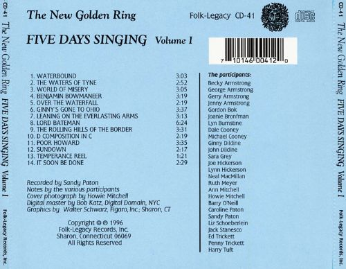 The New Golden Ring: Five Days Singing, Vol. 1