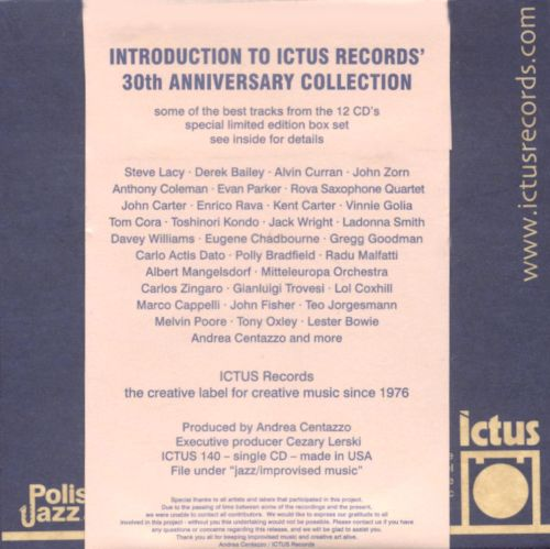 Introduction to Ictus Records' 30th Anniversary Collection