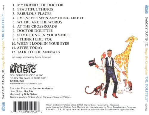 Sings the Complete Dr. Doolittle
