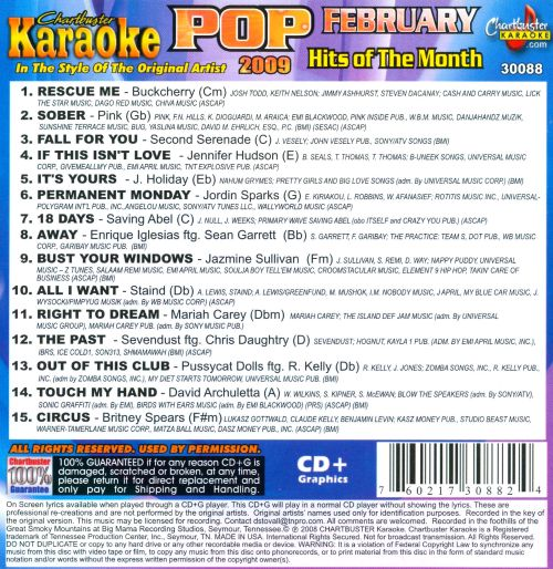 Karaoke: Pop Hits of the Month: February 2009
