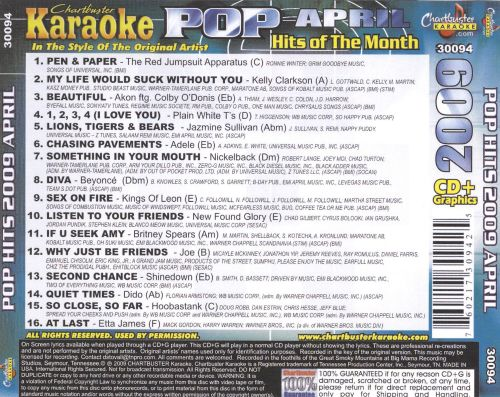 Karaoke: Pop Hits of the Month - April 2009 [Chartbuster]