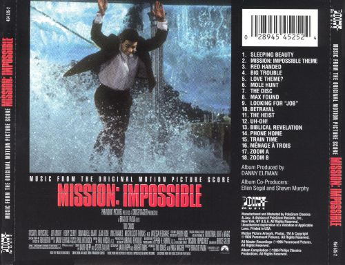 mission impossible original motion picture soundtrack danny elfman songs reviews credits. Black Bedroom Furniture Sets. Home Design Ideas