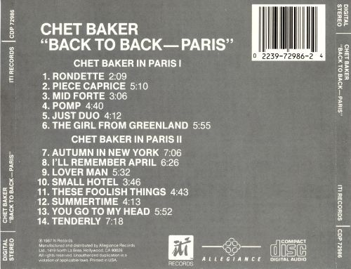 Back to Back: Paris, Vol. 1 and 2