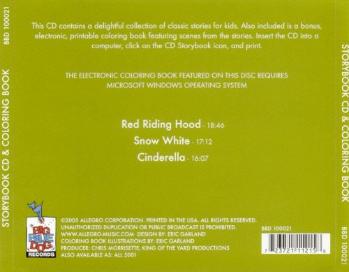 Storybook CD & Coloring Book: Red Riding Hood/Snow White/Cinderella