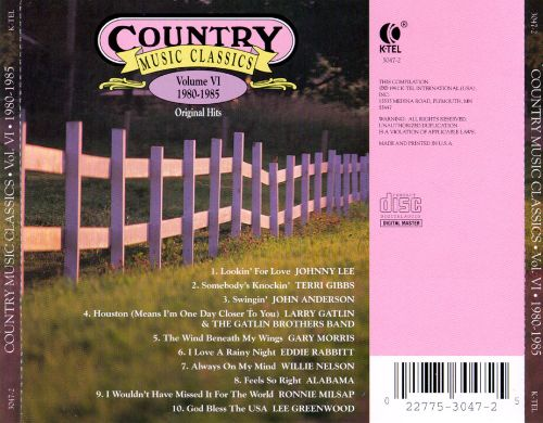 Country music classics vol 6 1980 1985 various for House music classics 1980s