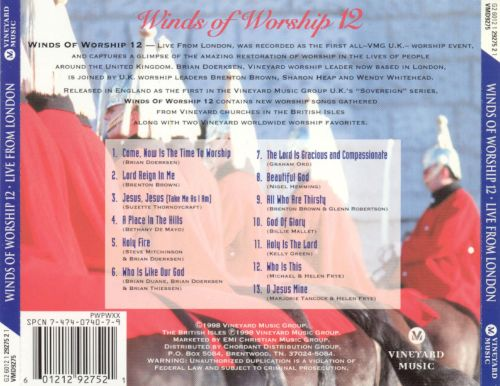 Winds of Worship, Vol. 12: Live From London