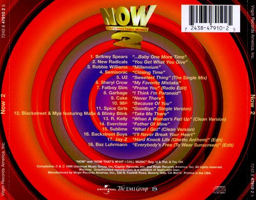 Various NOW Thats What I Call Music 3