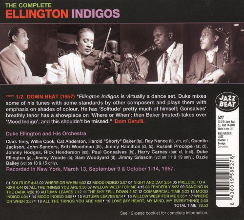 The complete ellington indigos duke ellington songs The ellington