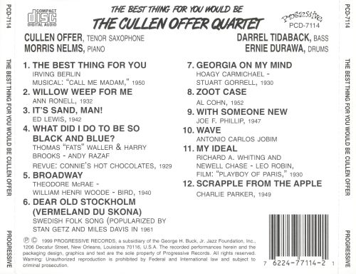 The Best Thing For You Would Be The Cullen Offer Quartet