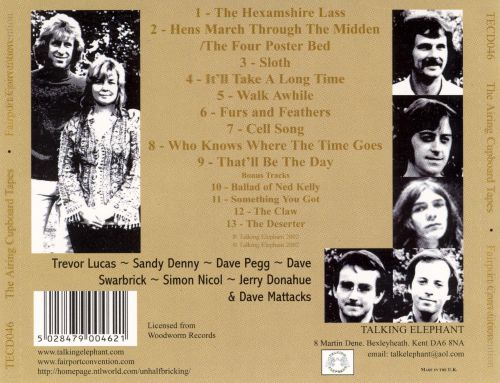 The Airing Cupboard Tapes 71-74