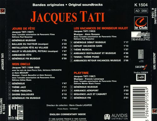 Composers For the Films of Jacques Tati