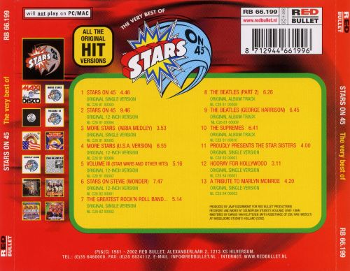 Very Best of Stars on 45 [Red Bullet]