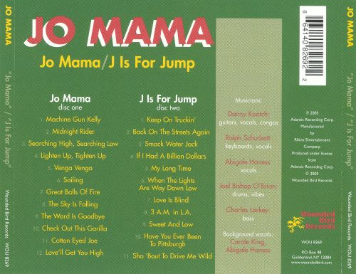 Jo Mama/J Is for Jump