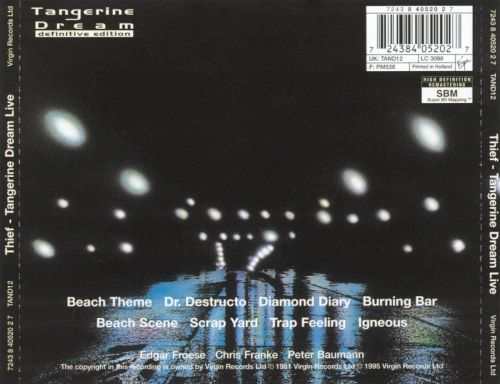 Tangerine Dream - Dr. Destructo, from the album Thief ...