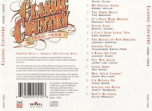 Classic Country 1950 1959 Various Artists Songs