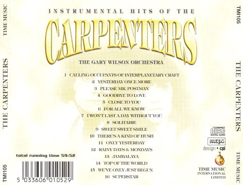 Instrumental Hits of the Carpenters
