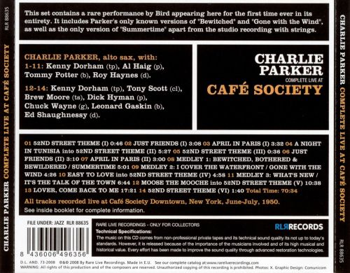 Complete Live at Cafe Society