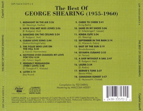 The Best of George Shearing (1955-1960)