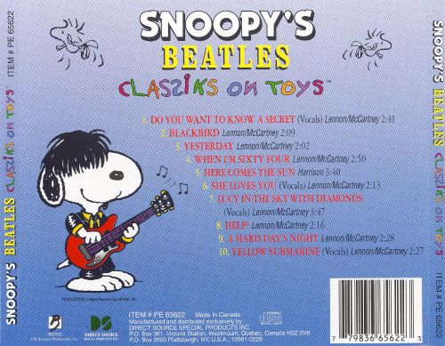 Snoopy's Classiks on Toys: Beatles