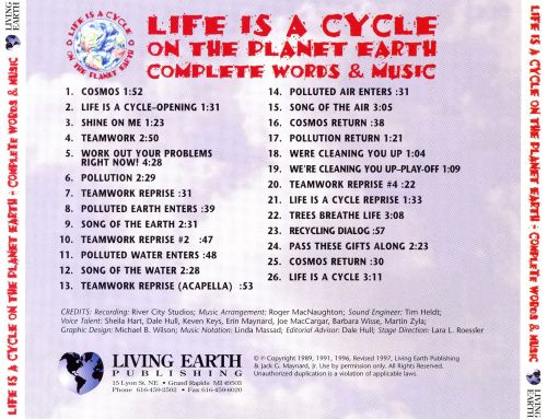Life Is a Cycle on the Planet Earth: Complete Words and Music