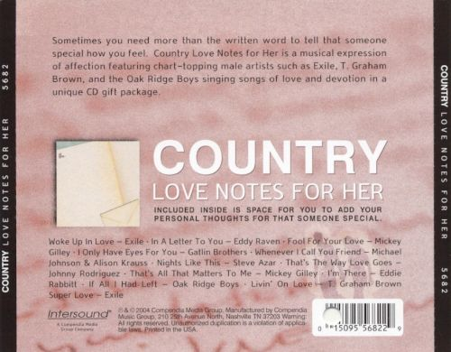 Country Love Notes for Her - Various Artists | Songs, Reviews ...