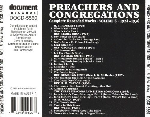 Preachers and Congregations, Vol. 6: 1924-1936