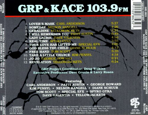 GRP & KACE 103.9 FM Present: The Smooth Sounds of the Quiet Storm, Vol. 2