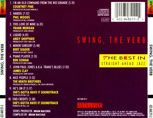 Swing, the Verb: The Best in Straight Ahead Jazz