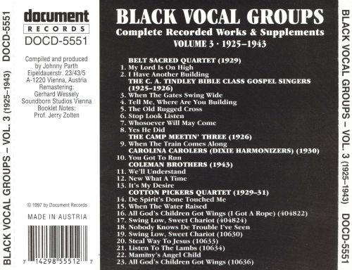 Black Vocal Groups, Vol. 3