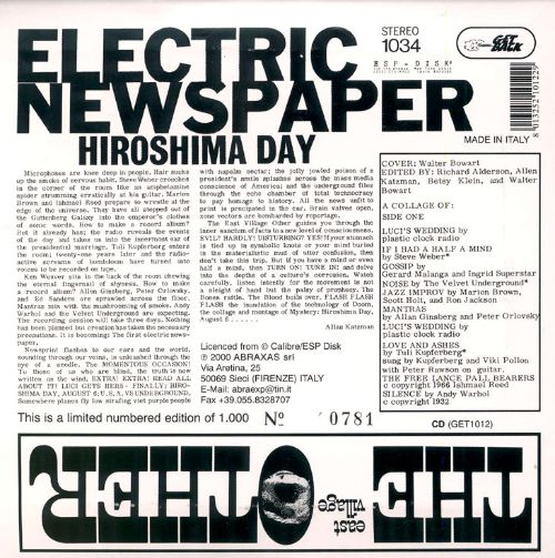 The East Village Other: Electric Newspaper
