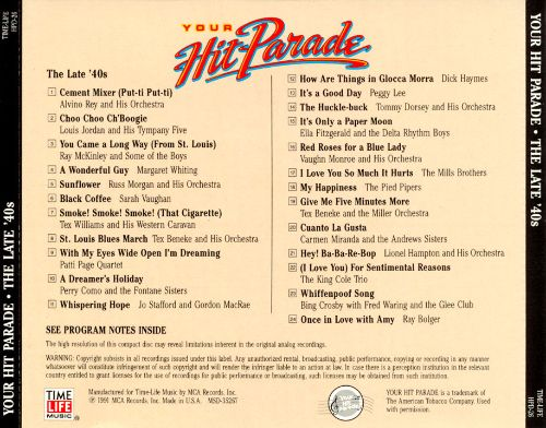 Your Hit Parade: The Late '40s
