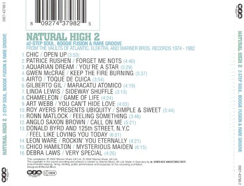 Natural High, Vol. 2: 2-Step Soul, Boogie Fusion & Rare Groove
