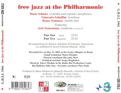 Free Jazz at the Philharmonic
