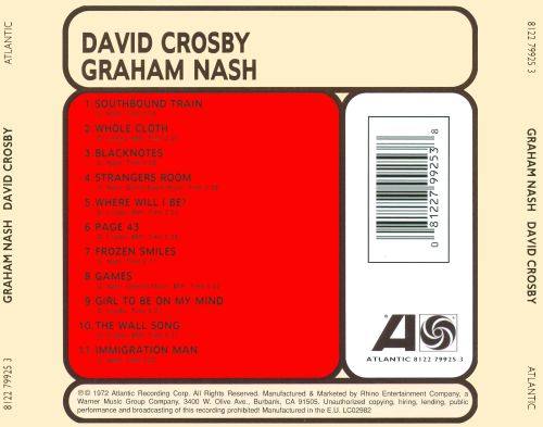 Graham Nash/David Crosby