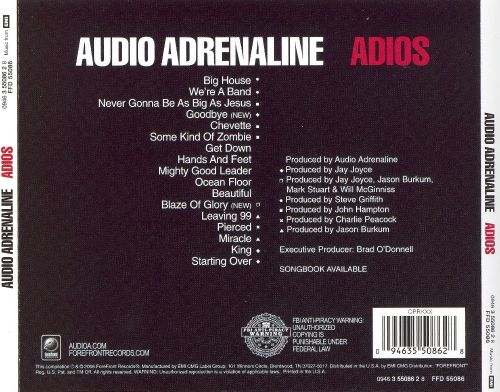 Audio Adrenaline - Adios (The Greatest Hits)