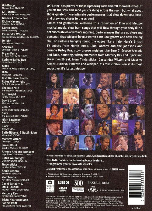 Later...with Jools Holland: Mellow [DVD]