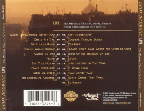 Live - December 26, 1992: The Olympia Theater, Paris France