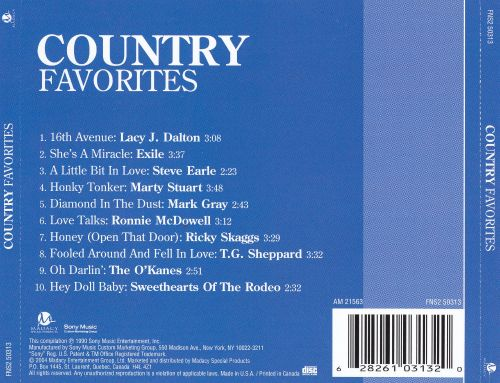 Country Favorites [Madacy 2004]
