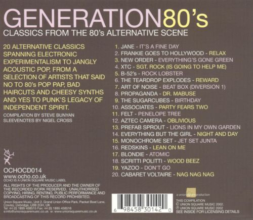 Generations 80's: Classics from the 80's Alternative Scene