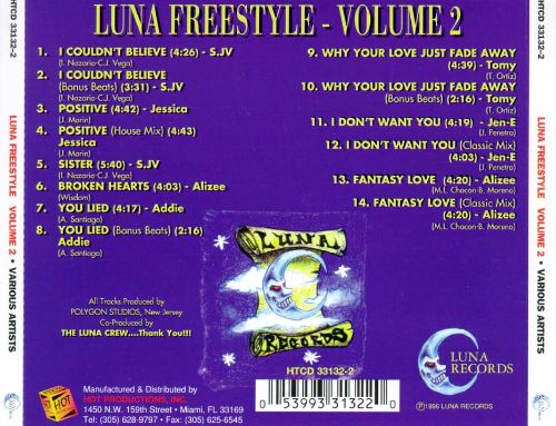 Various Luna Freestyle Vol. 2