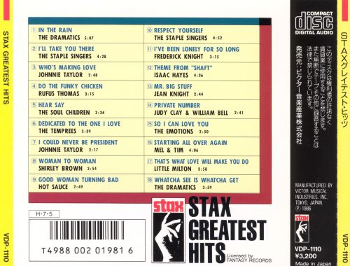 Stax Greatest Hits
