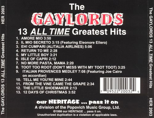 All-Time Greatest Hits