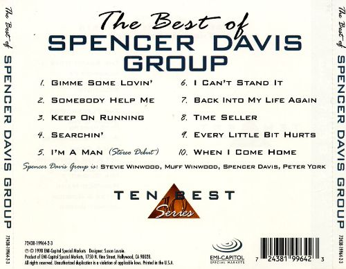 The Best of the Spencer Davis Group [EMI 1998]