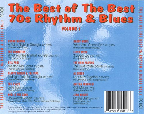 Best of the Best: 70's Rhythm & Blues, Vol. 1